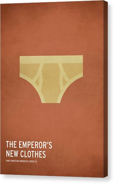 The Emperor's New Clothes Canvas Print by Christian Jackson