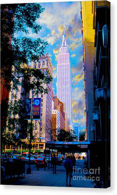 Empire Canvas Print - The Empire State Building by Jon Neidert