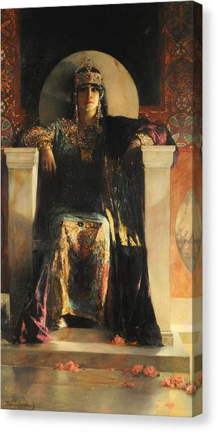 Canvas Print featuring the painting The Empress Theodora by Jean-Joseph Benjamin-Constant