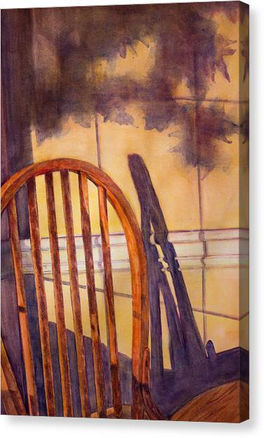 Ohio Valley Canvas Print - The Empty Chair by Janet Felts