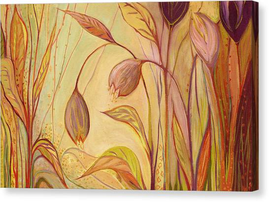 Abstract Lily Canvas Print - The Enchantment by Jennifer Lommers