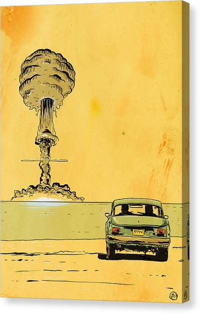 Bombs Canvas Print - The End by Giuseppe Cristiano
