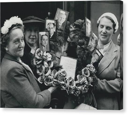 The End Of Rationing In Britain. Housewives Present The Canvas Print by Retro Images Archive