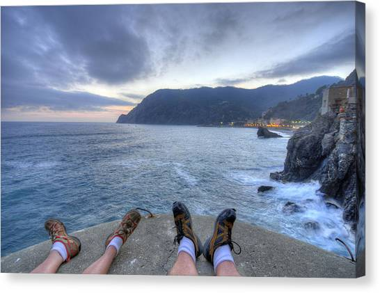 The End Of The Day In Monterosso Canvas Print