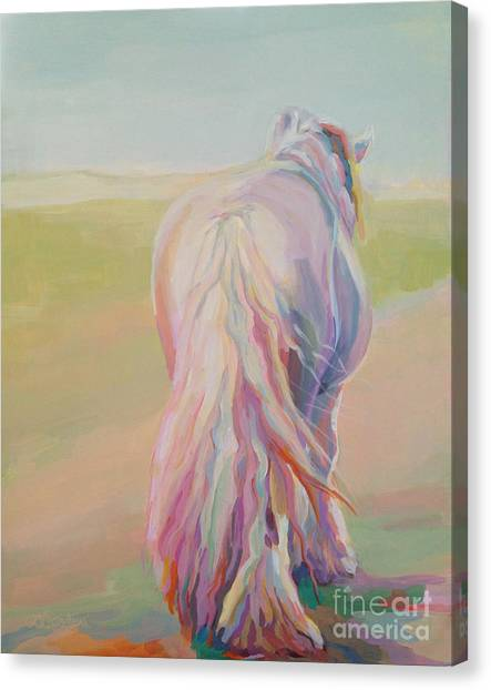 Draft Horses Canvas Print - The End Of The Day by Kimberly Santini