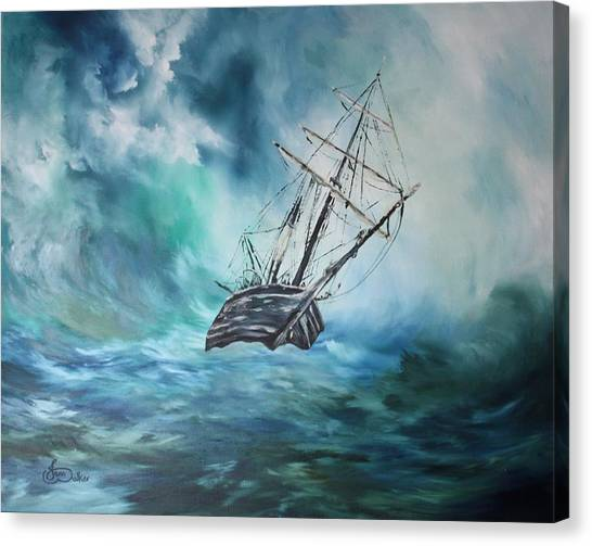 The Endurance At Sea Canvas Print