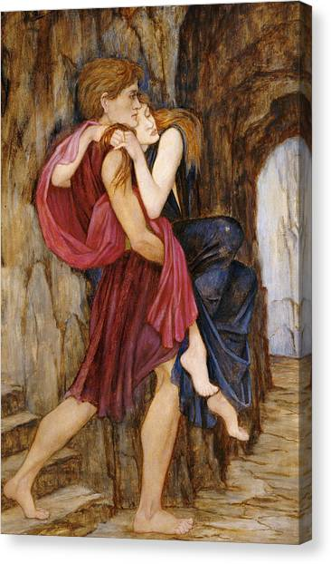 Pre-modern Art Canvas Print - The Escape by John Roddam Spencer Stanhope