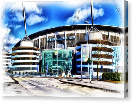 New York City Fc Canvas Print - The Etihad Stadium by Neil Ravenscroft
