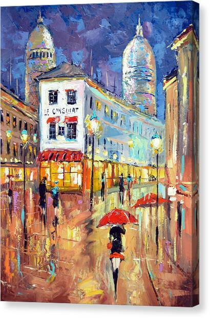 The Evening Lights Of Paris Canvas Print