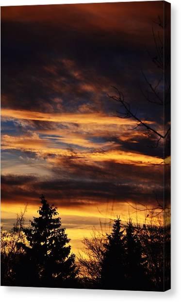 The Evening Sky Canvas Print