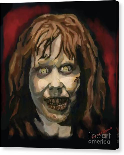 The Exorcist Canvas Print - The Exorcist Regan Teresa Macneil by Eric Mark Thompson