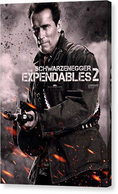 Sylvester Stallone Canvas Print - The Expendables 2 Schwarzenegger by Movie Poster Prints