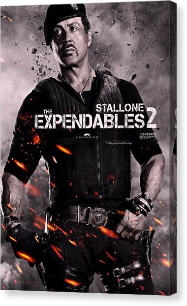 Sylvester Stallone Canvas Print - The Expendables 2 Stallone by Movie Poster Prints