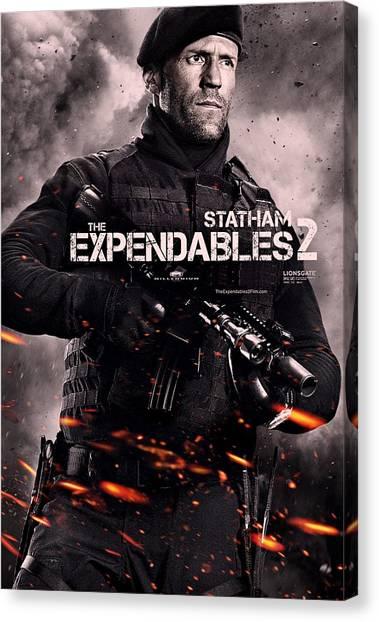 Sylvester Stallone Canvas Print - The Expendables 2 Statham by Movie Poster Prints