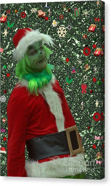 Grinch Canvas Print - The Expression by Donna Brown