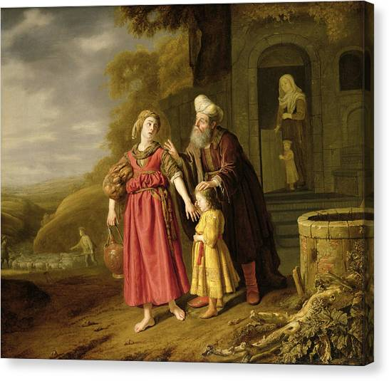 Old Testament Canvas Print - The Expulsion Of Hagar And Ishmael, C.1644 Oil On Canvas by Victors