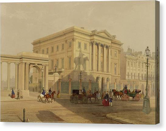 Hyde Park Canvas Print - The Exterior Of Apsley House, 1853 by English School
