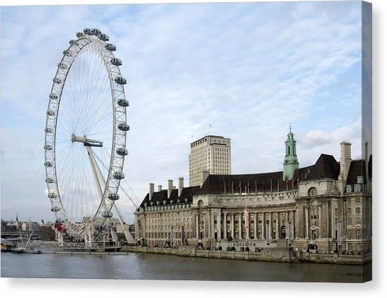 London Eye Canvas Print - The Eye by Mike McGlothlen