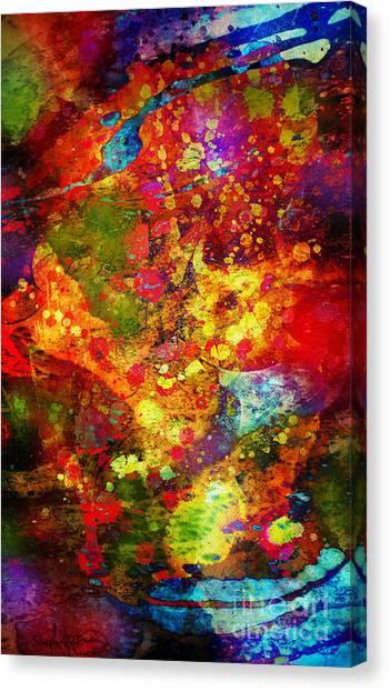 The Eye Of Craziness Canvas Print by Donika Nikova