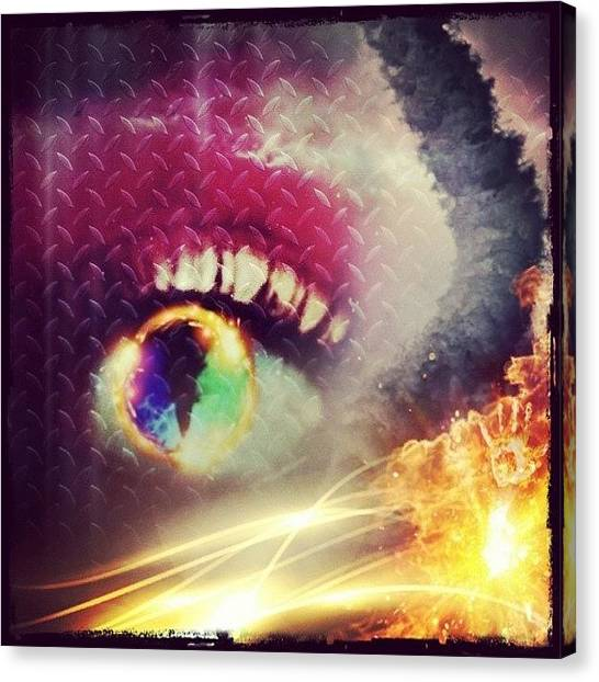 Tornadoes Canvas Print - the Eye Of The Tornado by Tatyanna Spears