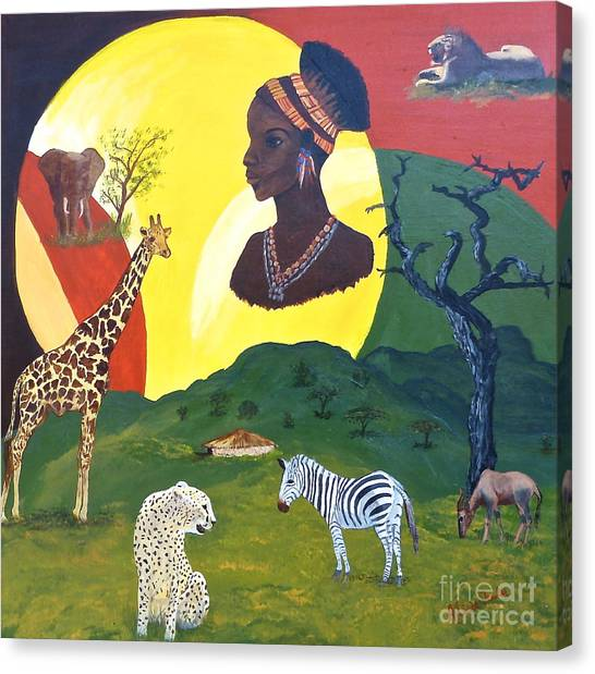 The Faces Of Africa Canvas Print