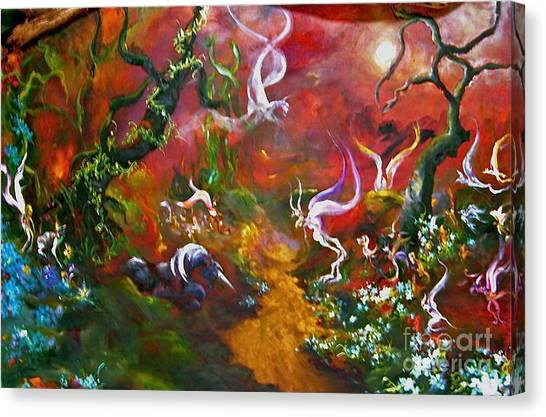 The Fairy Forest Canvas Print by Michelle Dommer
