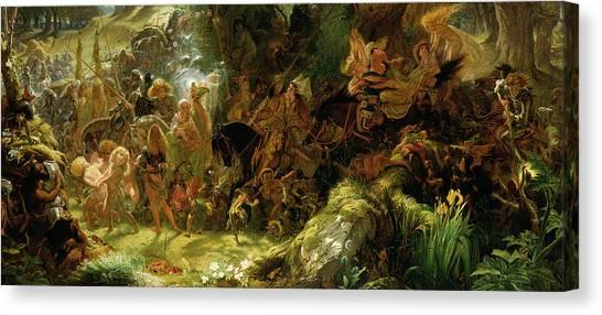 Abduction Canvas Print - The Fairy Raid by Sir Joseph Noel Paton