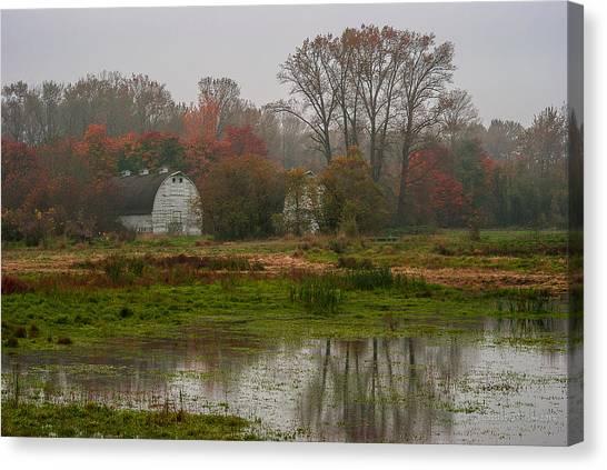 The Fall Barn Canvas Print