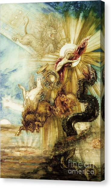 Mythological Creatures Canvas Print - The Fall Of Phaethon by Gustave Moreau