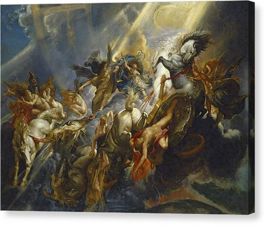 Angel Falls Canvas Print - The Fall Of Phaeton by  Peter Paul Rubens