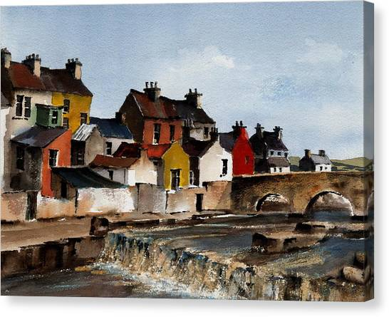 The Falls At Ennistymom Clare Canvas Print