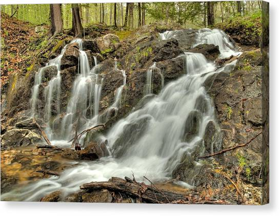 The Falls At Mackenzie King Estate Canvas Print
