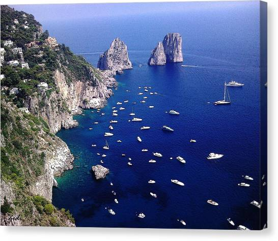 The Faraglioni Of Capri Canvas Print