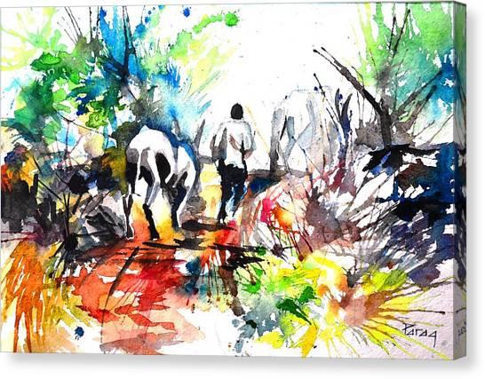 The Farmer Canvas Print