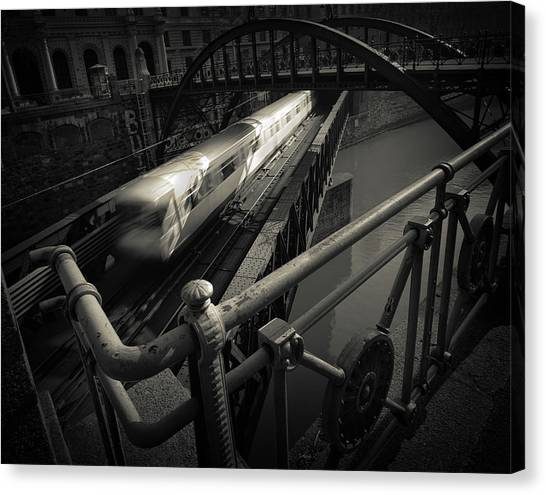 London Tube Canvas Print - The Fast Line by Dragan Jovancevic
