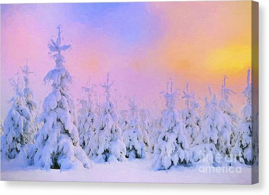 Painterly Canvas Print - The February Sun by Veikko Suikkanen