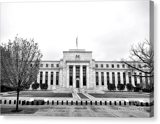 D.c. United Canvas Print - The Federal Reserve  by Olivier Le Queinec