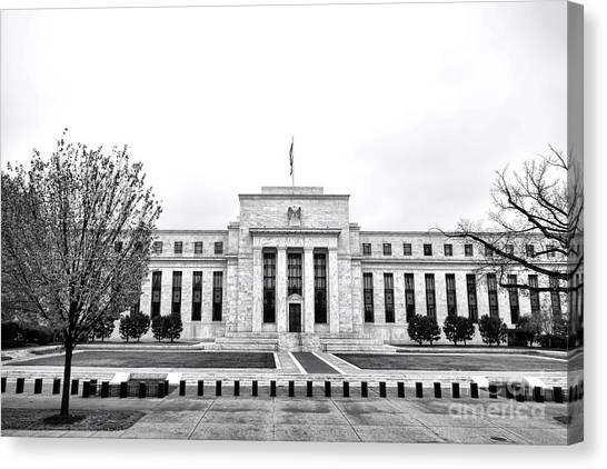 Washington D.c Canvas Print - The Federal Reserve  by Olivier Le Queinec