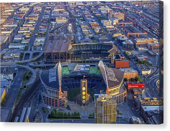 Seattle Mariners Canvas Print - The Fields by Calazone's Flics