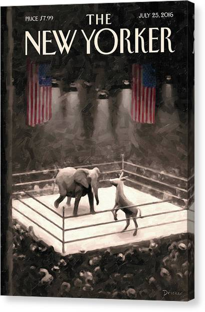 The Fight Begins Canvas Print