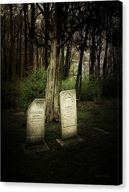 The Final Resting Place Of Ambros And Brazilla Ivins Canvas Print