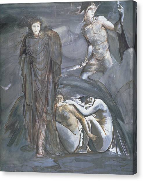 Gorgons Canvas Print - The Finding Of Medusa, C.1876 by Sir Edward Coley Burne-Jones