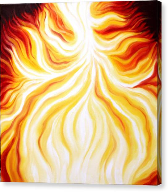 The Fire Falls  Canvas Print by Sandra Yegiazaryan
