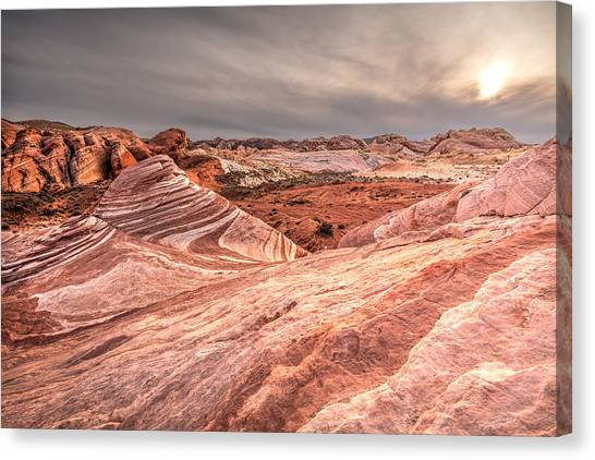 Valley Of Fire Canvas Print - The Fire Wave by Peter Tellone