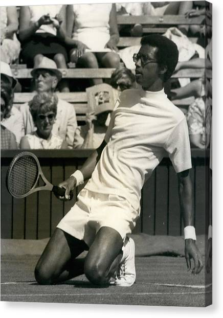 The First Dai Of The Wimbeddon Tennis Tournament Arthur Canvas Print by Retro Images Archive