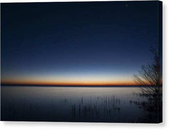 Lake Michigan Canvas Print - The First Light Of Dawn by Scott Norris