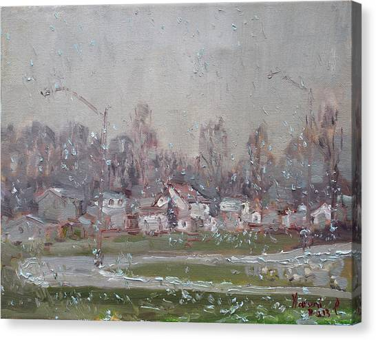 Snowflakes Canvas Print - The First Snowflakes Of The Season  by Ylli Haruni