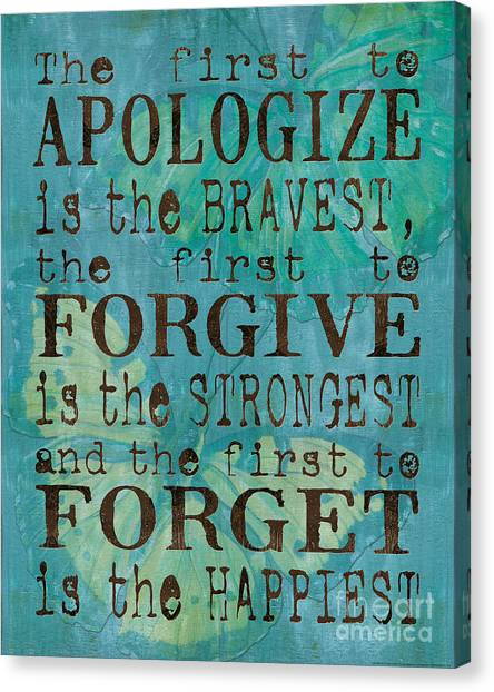 Brown Canvas Print - The First To Apologize by Debbie DeWitt