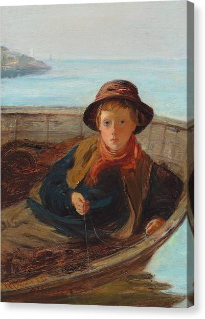 Beach Cliffs Canvas Print - The Fisher Boy by William McTaggart