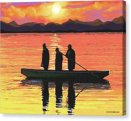 The Fishermen Canvas Print